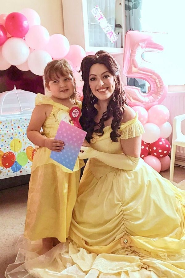Belle at a children's party